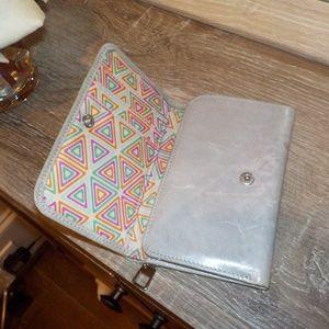 HOBO ⚡️grey patterned jill wallet